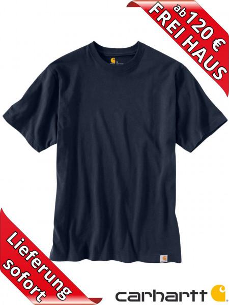 Carhartt schweres workwear T-Shirt Solid Baumwolle 104264 navy blau