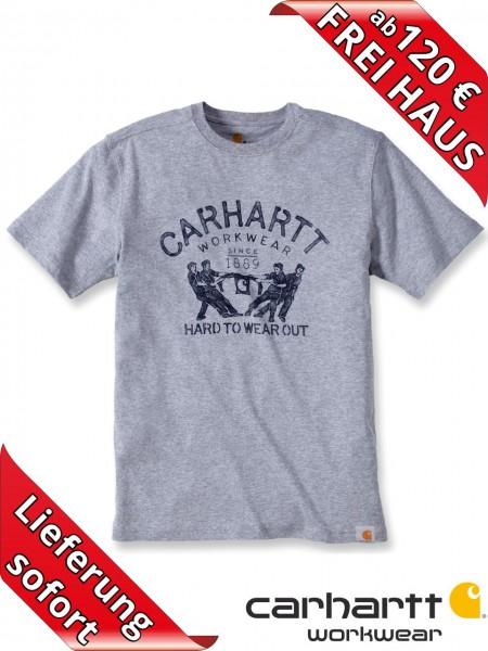 Carhartt T-Shirt Maddock HARD TO WEAR OUT Short Sleeve Logo 102097 grau