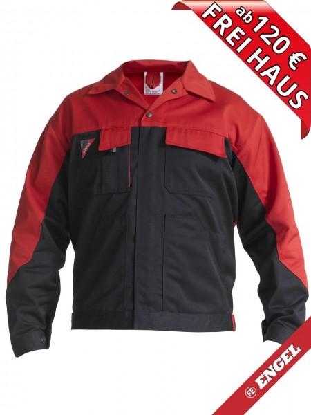 Bundjacke Arbeitsjacke Enterprise zweifarbig FE ENGEL 1600-780 schwarz/rot