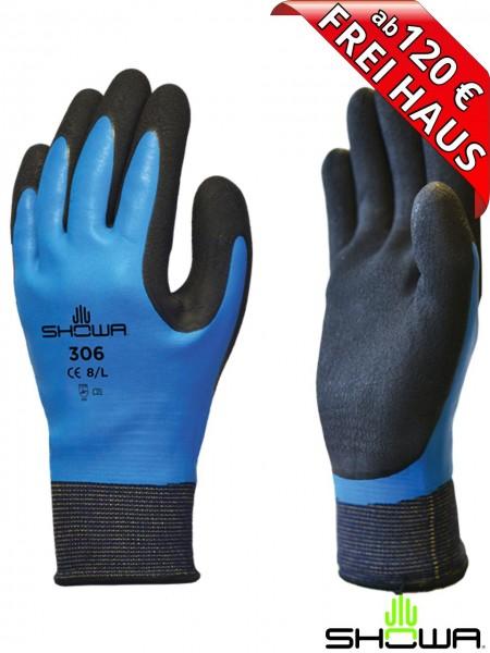 SHOWA 306 Dual latex Arbeitshandschuhe Montage Handschuh 178306 blau
