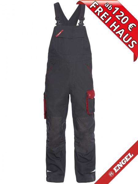 Latzhose zweifarbige Hose GALAXY 3810-254 FE ENGEL anthrazitgrau rot