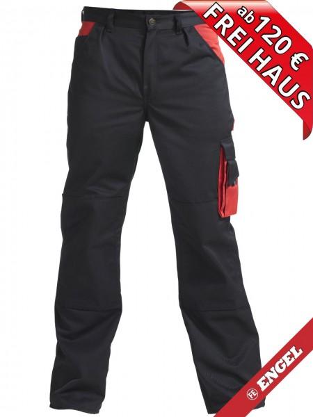 Bundhose Arbeitshose Enterprise zweifarbig FE ENGEL 2600-785 schwarz/rot