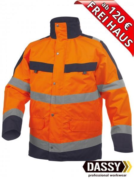 Warnschutz Regenjacke Parka Jacke ATLANTIS DASSY 300346 orange/blau