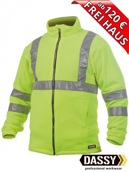 Warnschutz Fleece Jacke KALUGA DASSY 300247 gelb EN ISO 20471