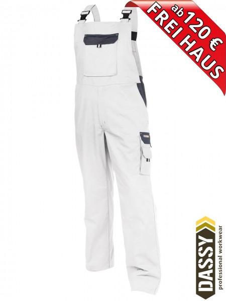 DASSY® Calais Maler Latzhose 400138 zweifarbig weiss grau