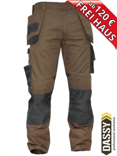 Arbeitshose Multitaschen Bundhose DASSY® MAGNETIC D-FX 200908 braun