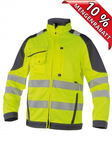 Warnschutz Arbeitsjacke Bundjacke ORLANDO DASSY 300367 gelb/grau
