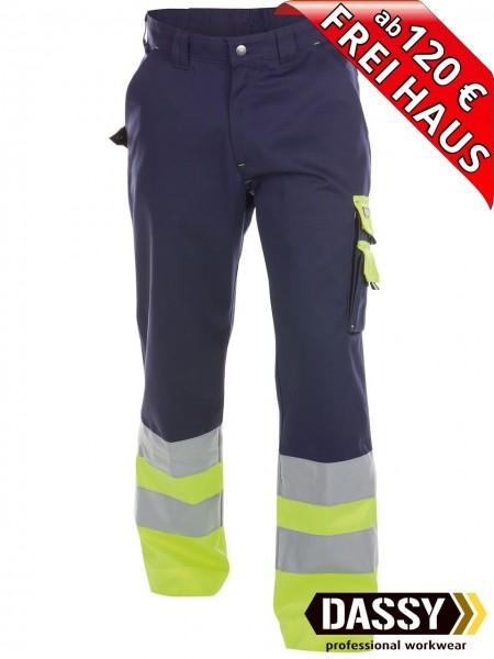 Warnschutz Bundhose Arbeitshose OMAHA DASSY 200620 blau/gelb