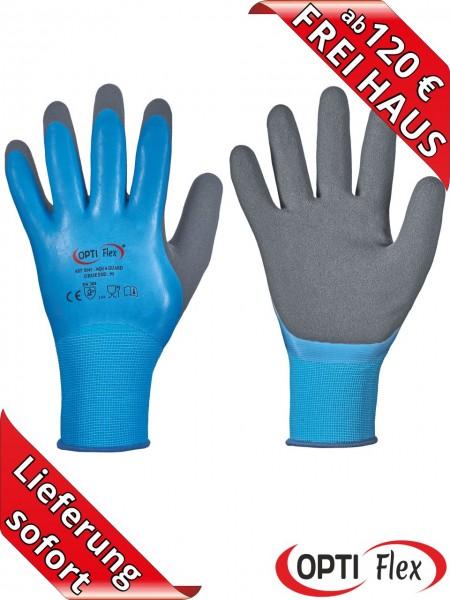 OPTI Flex 0545 Aqua Guard Latex Arbeitshandschuhe wasserdicht Lebensmitteleignung