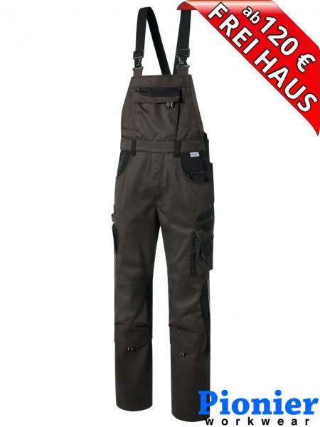 Latzhose TOOLS Pionier Workwear 5433 285 g/m² braun / schwarz
