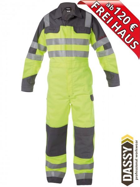 Multinorm Warnschutz Overall Kombi SPENCER DASSY 100380 gelb/grau