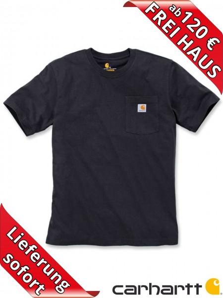Carhartt schweres workwear T-Shirt Pocket Brusttasche 103296 schwarz