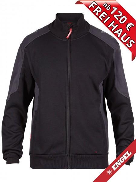 Sweat Jacke Cardigan Sweatshirtjacke GALAXY 8830-233 FE ENGEL schwarz grau