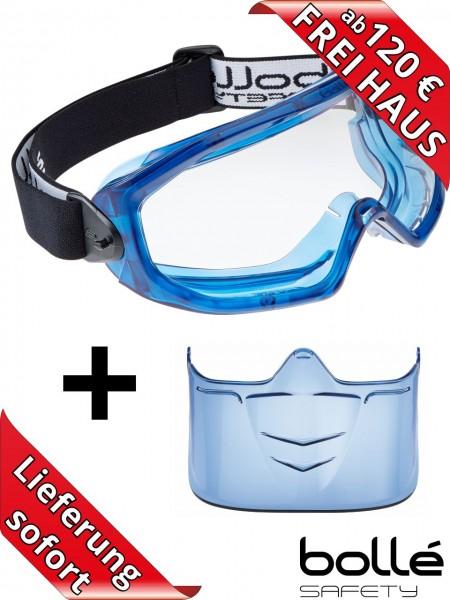 Bollé Safety SET Vollsichtschutzbrille SUPERBLAST + VISIER zum Sonderpreis