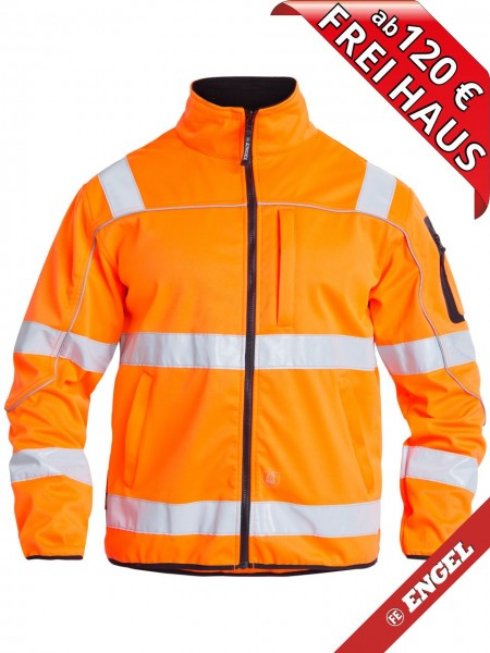 Warnschutz Softshelljacke Jacke EN ISO 20471 FE ENGEL 1153-237 orange