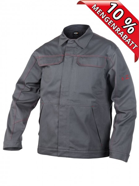 Brandverzögernde Bundjacke Arbeitsjacke MONTANA DASSY 300342 grau