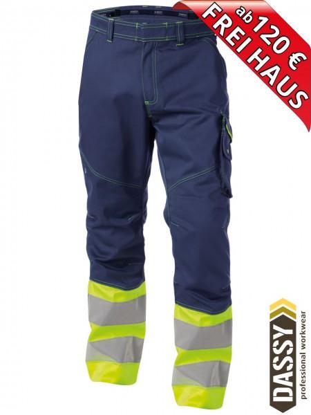 Warnschutz Bundhose Arbeitshose PHOENIX DASSY 200810 gelb/blau