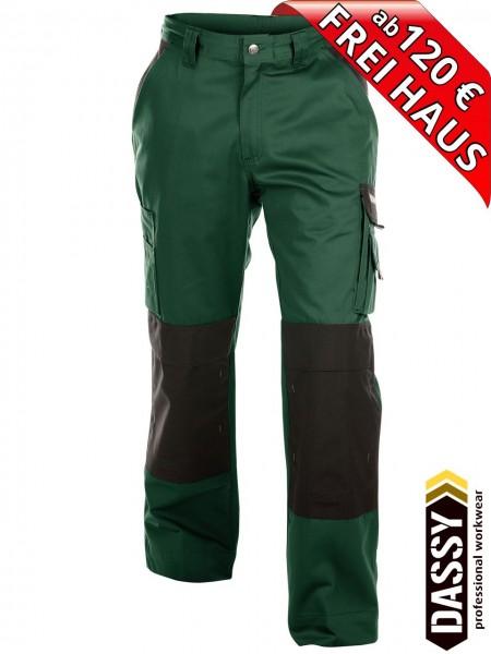Arbeitshose Bundhose Hose zweifarbig grün BOSTON DASSY 200426