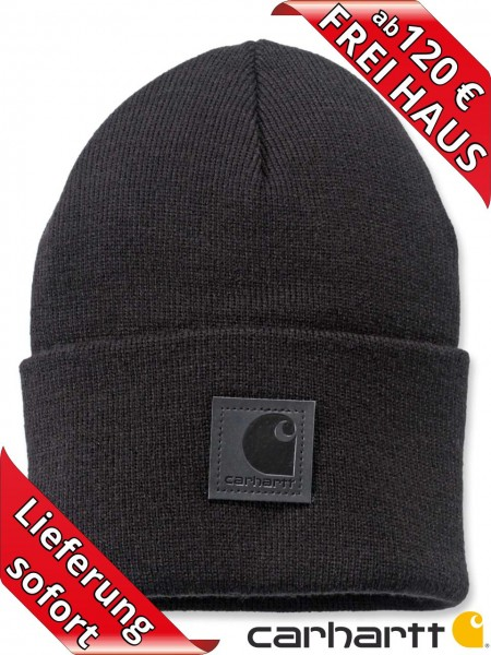 Carhartt Strickmütze Black Label Watch Hat Beanie Wintermütze 101070