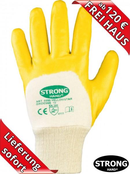 Nitril Arbeitshandschuh Handschuh beschichtet YELLOWSTAR 0550 Stronghand