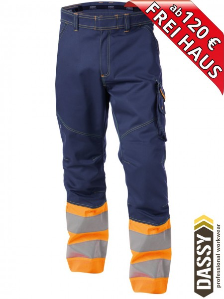 Warnschutz Bundhose Arbeitshose PHOENIX DASSY 200810 orange/blau