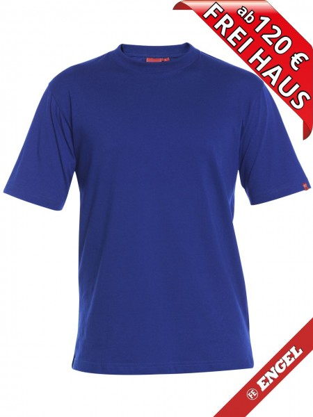 T-Shirt Workwear Mischgewebe Rundhals FE ENGEL 9054-559 azurblau royal