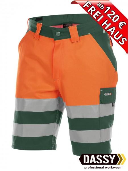 Warnschutz Short kurze Arbeitshose VENNA DASSY 250030 orange/grün
