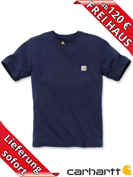 Carhartt schweres workwear T-Shirt Pocket Brusttasche 103296 navy blau