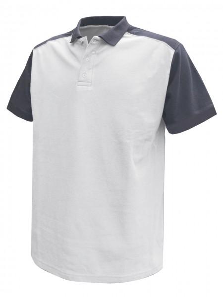 DASSY® Cesar zweifarbiges Maler Polo Shirt 710004 weiss/grau Baumwolle
