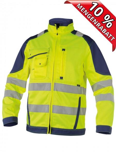 Warnschutz Arbeitsjacke Bundjacke ORLANDO DASSY 300367 gelb/blau