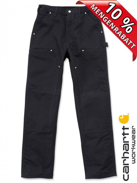 Carhartt B01 Firm Duck Double-Front Work Dungaree Arbeitshose Schwarz