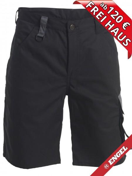 Shorts zweifarbig kurze Arbeitshose Light FE ENGEL 6270-740 schwarz/grau