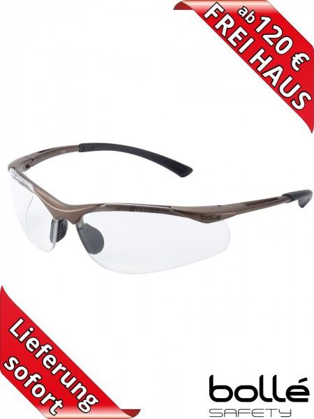 Bollé Safety Schutzbrille CONTOUR CONTPSI Klar PLATINUM Beschichtung