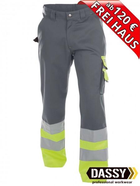 Warnschutz Bundhose Arbeitshose OMAHA DASSY 200620 grau/gelb