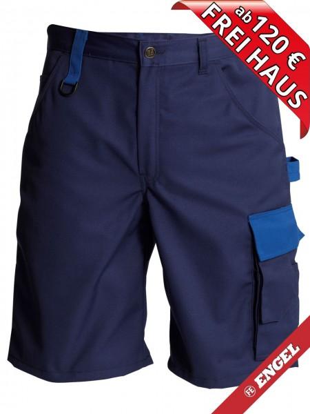 Shorts zweifarbig kurze Arbeitshose Light FE ENGEL 6270-740 marine/azurblau