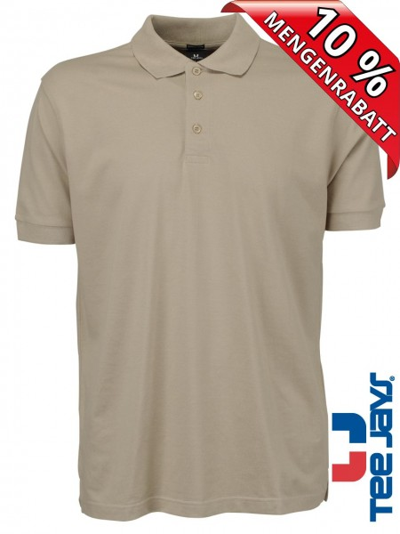 Stretch Herren Polo Shirt Deluxe 1405 Tee Jays beige sand