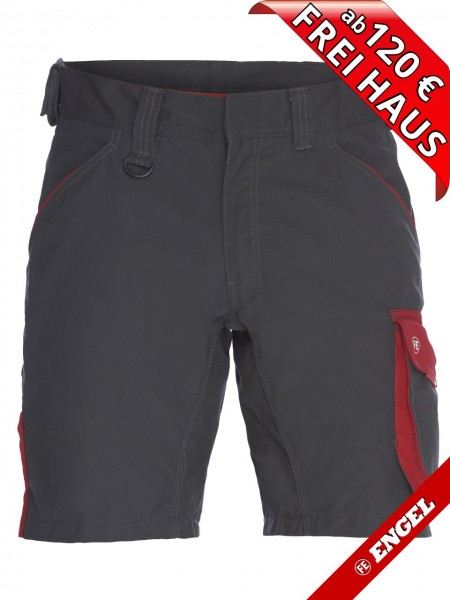 Shorts kurze Arbeitshose Bundhose GALAXY 6810-254 FE ENGEL grau rot