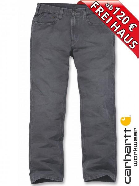 Carhartt Weathered Duck 5-Pocket Pant Arbeitshose 100096 Grau