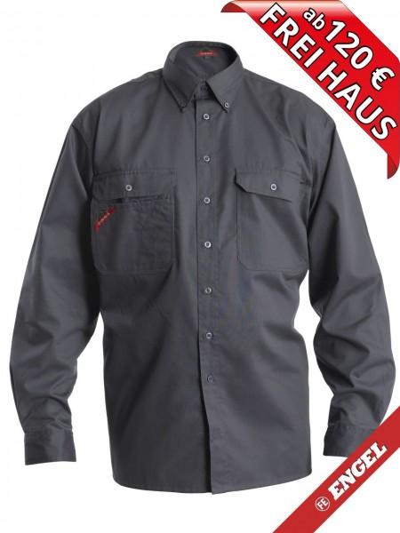 Workerhemd Arbeitshemd Mischgewebe Hemd HANKS FE Engel 181-810 grau