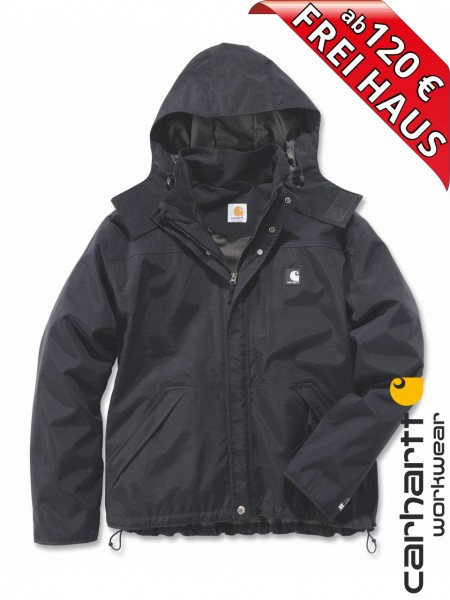 Carhartt Shoreline Jacket Regenjacke wasserdicht Jacke J162 schwarz