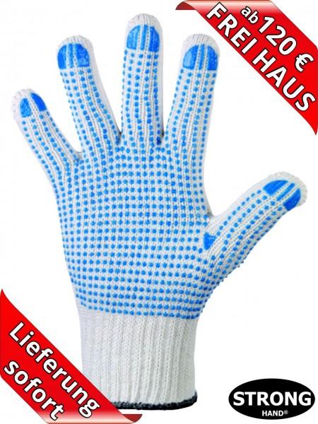 Strick Handschuh blaue Noppen Arbeitshandschuh KORLA 0360 Stronghand