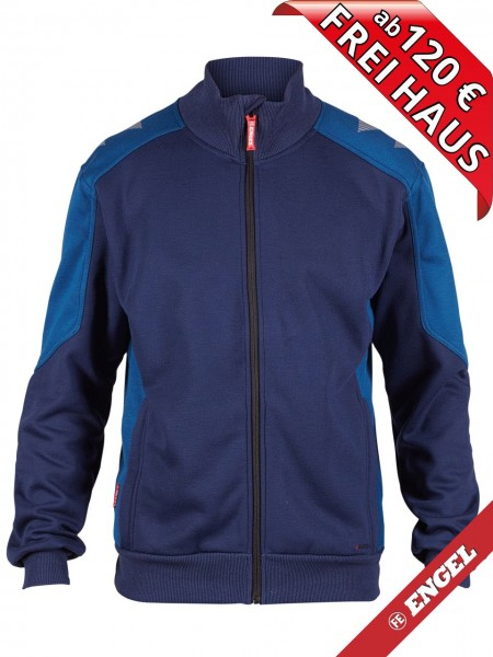 Sweat Jacke Cardigan Sweatshirtjacke GALAXY 8830-233 FE ENGEL tinten blau