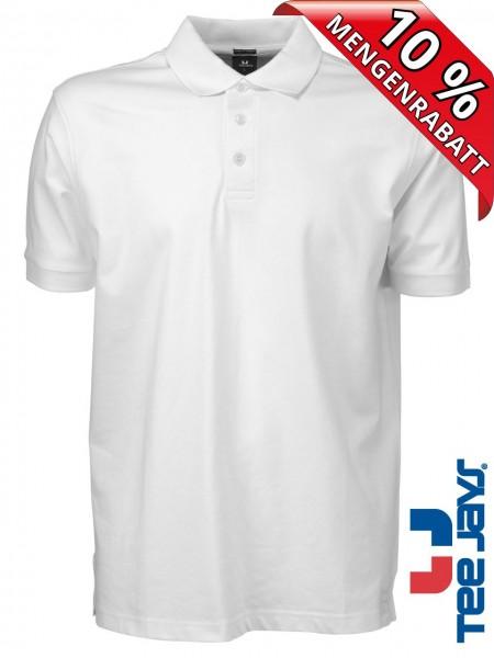 Stretch Herren Polo Shirt Deluxe 1405 Tee Jays weiss