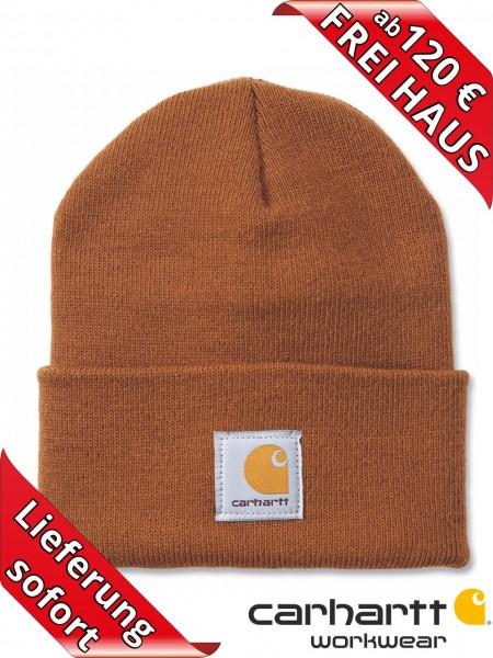 Carhartt Strickmütze Watch Hat Beanie Wintermütze Mütze A18 Brown