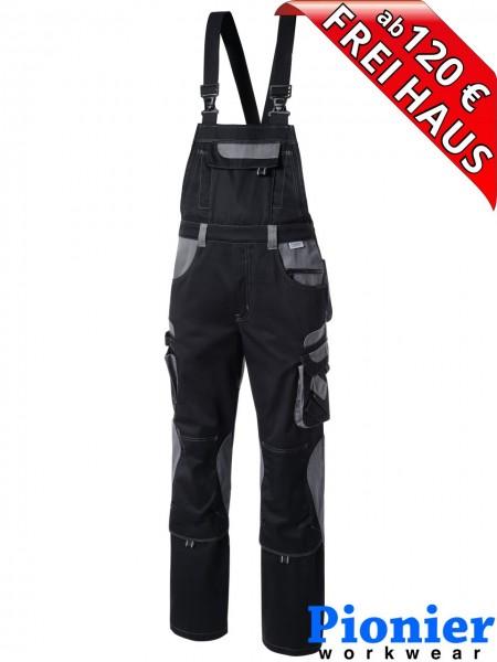 Latzhose TOOLS Pionier Workwear 5430 285 g/m² schwarz / grau