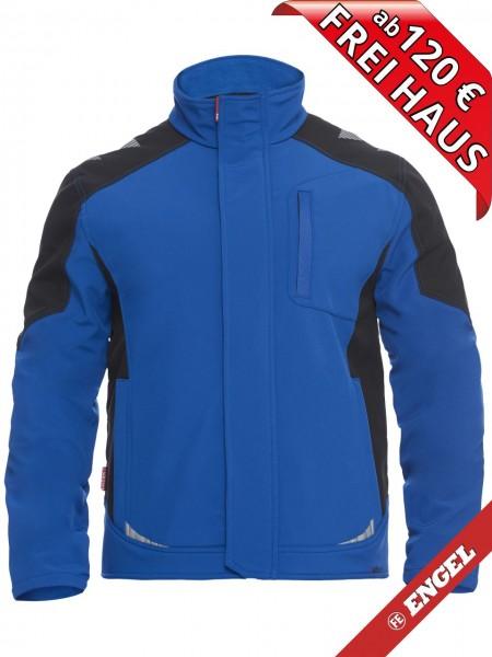 Softshell Jacke zweifarbig GALAXY 8810-229 FE ENGEL royalblau schwarz