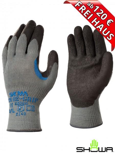 SHOWA 330 RE-GRIP Arbeitshandschuh Latex Beschichtung Strick Handschuh