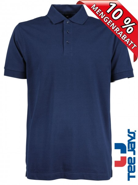 Stretch Herren Polo Shirt Deluxe 1405 Tee Jays indigo blau