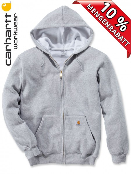 Carhartt Kapuzenjacke Zip Hooded Sweatshirt Jacke K122 Kapuze hellgrau