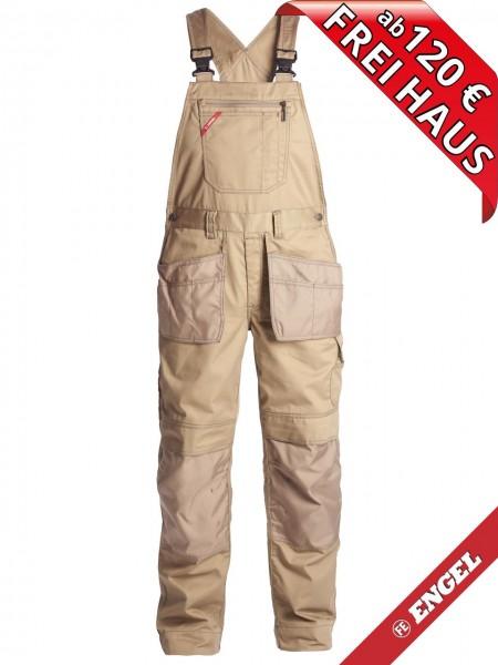 Arbeitslatzhose Latzhose Holstertaschen COMBAT FE ENGEL 3761-630 wood beige